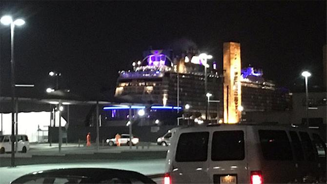 Storm-battered Anthem of the Seas cruise ship returns to port