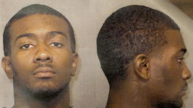 This undated photo provided by the Auburn Police Division shows Desmonte Leonard, 22, of Montgomery, Ala., the suspect wanted for fatally shooting three people, including two former Auburn University football players, and wounding another three people during a party at an apartment complex near the school, Sunday, June 10, 2012, in Auburn, Ala. Auburn Police Chief Tommy Dawson said that current football player Eric Mack was among those wounded and was being treated at a hospital. The two slain former players were identified as Edward Christian and Ladarious Phillips. The other person killed was identified as Demario Pitts. (AP Photo/Auburn Police Division)