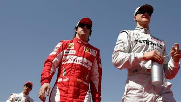 Alonso Schumacher Button 2010