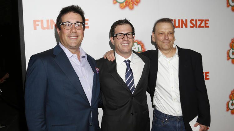 "Producer David Kanter, Executive Producer Paul Green and Producer Bard Dorros attend the ""Fun Size"" Los Angeles Premiere at Paramount Studios on Thursday,  October 25, 2012 in Los Angeles, California.  (Photo by Todd Williamson/Invision/AP Images)"