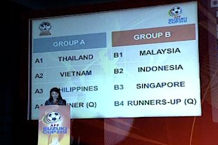 Singapore face Malaysia and Indonesia in Group B