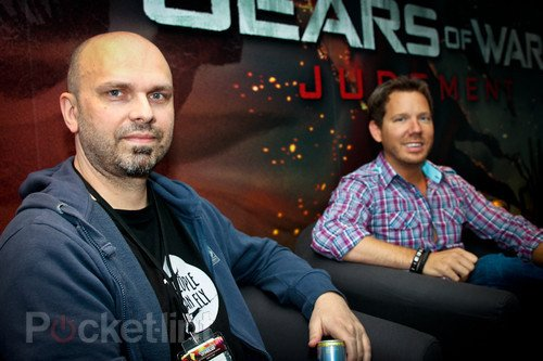 Adrian Chmielarz, creative director of People Can Fly, and the one and only Cliff Bleszinski (CliffyB), design director of Epic Games and creator of Gears of War