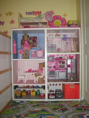 BESTA Shelf Turned Doll House