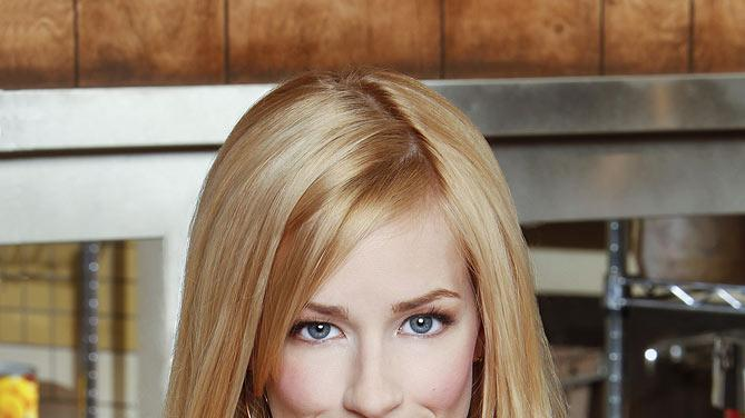 "Beth Behrs stars as Caroline Channing in ""2 Broke Girls."""
