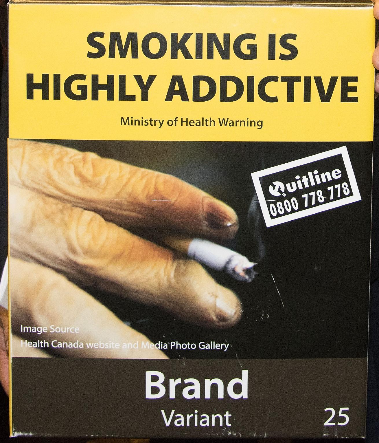 N.Zealand, Norway back plain packets for cigarettes