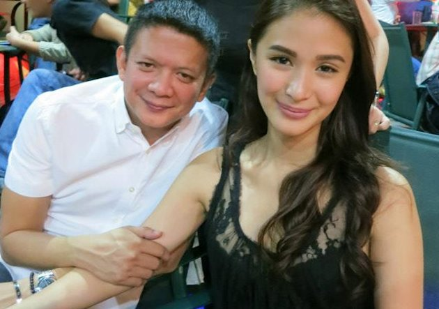 Senator Escudero with Heart Evangelista during a party for Senate reporters. Photo courtesy of Hannah Torregoza