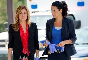 Sasha Alexander and Angie Harmon | Photo Credits: Darren Michaels/TNT