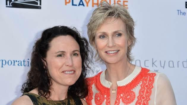 Lara Embry and Jane Lynch are seen at the Geffen Playhouse's Annual 'Backstage at the Geffen' Gala at Geffen Playhouse on June 4, 2012 in Los Angeles, Calif. -- Getty Images