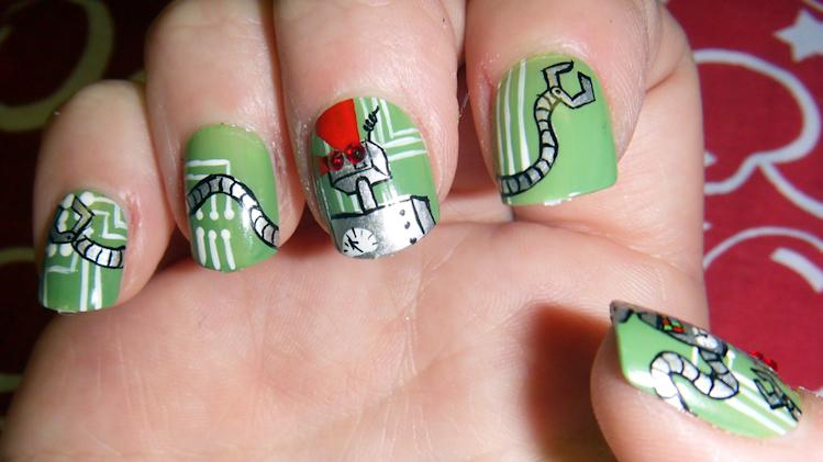 21 Amazingly Nerdy Nail Art Designs
