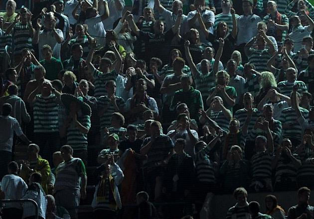 Celtic's supporters are seen on October 23, 2012 at the Camp Nou stadium in Barcelona