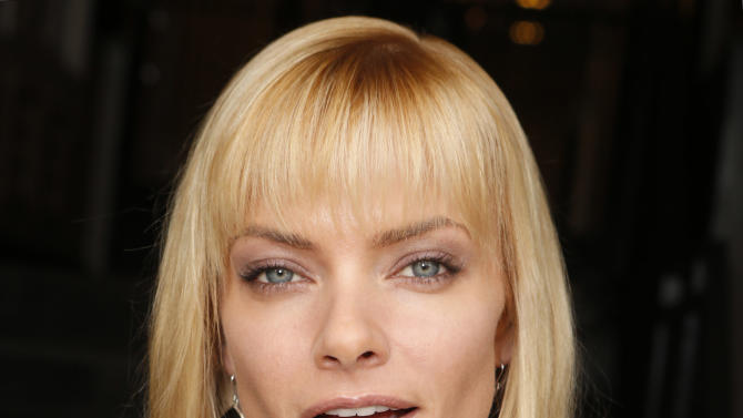 Jaime Pressly shops wearing YoYo Yeung Jacket and a Caviar Mom necklace on Tuesday December 4, 2012 in Los Angeles, California. (Photo by Todd Williamson/Invision/AP Images)