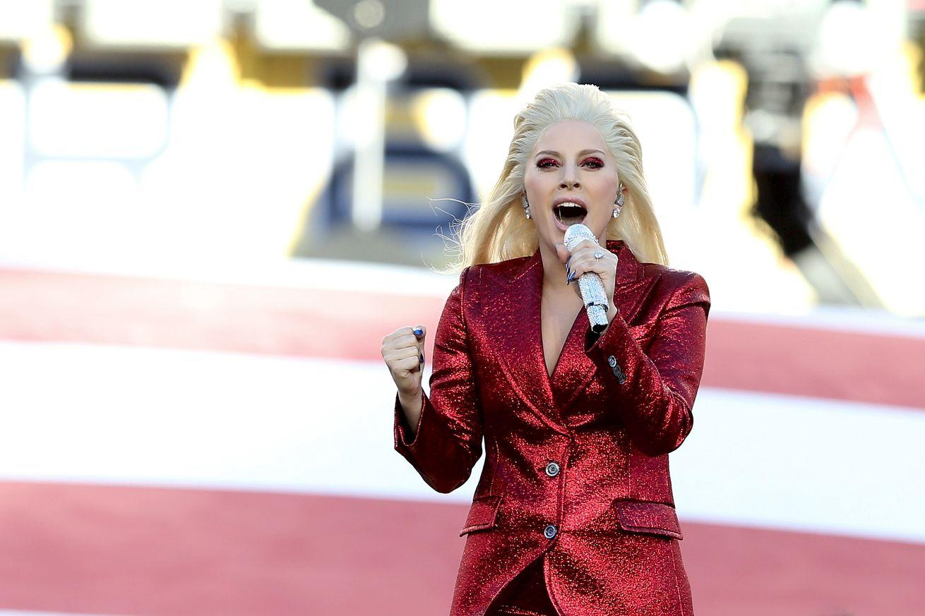 Watch Lady Gaga sing the National Anthem at the Super Bowl
