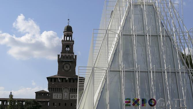 The Expo Gate building is pictured in downtown Milan