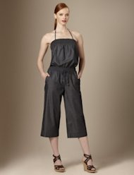 limited one piece cropped cuff jumpsuit