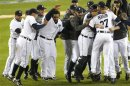 The Detroit Tigers Celebrate After Defeating The New York Yankees In Game 4 Of Their MLB ALCS Baseball Playoff Series And Advancing To The World Series, In Detroit