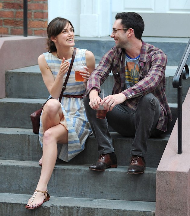Keira Knightley, Adam Levine, Spotted on set