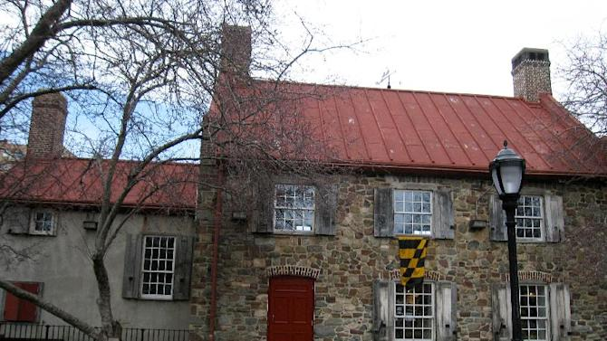"""This April 7, 2013 image shows the Old Stone House in Washington Park in the Brooklyn borough of New York. A baseball park was located on the site beginning in the 1880s, and the team, later known as the Brooklyn Dodgers, used the Old Stone House as a clubhouse. A man named Charles Ebbets worked there as a ticket-taker, eventually took over the team, and later built the Dodgers' storied ballpark at Ebbets Field. A new movie, """"42,"""" tells the story of Brooklyn Dodger Jackie Robinson, who integrated Major League Baseball and played at Ebbets. (AP Photo/Beth J. Harpaz)"""