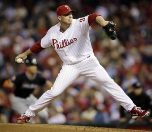 Rollins' 3 RBIs lead Phillies over Marlins