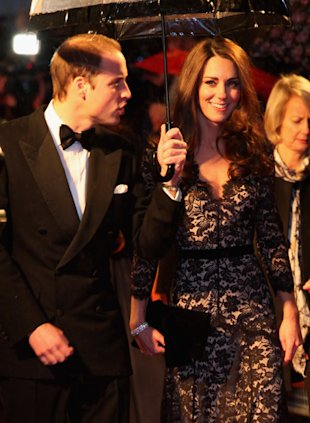 Kate, with her prince, at the War Horse premiere. It's good to be the birthday girl. (Ben Pruchnie/Getty Images)