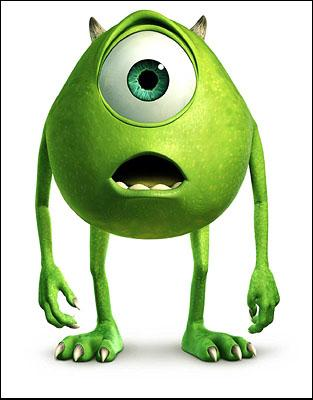 Mike Wazowski ( Billy Crystal ) in Disney's Monsters, Inc.