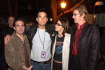 Mario Cantone, Robbie Williams, Gina Gershon and Denis Leary 100% NYC Concert Tribeca Film Festival, 5/9/2003