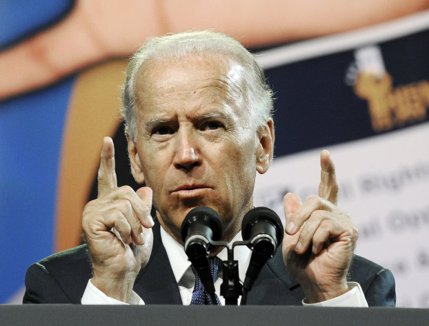 FILE - In this July 12, 2012, file photo, Vice President Joe Biden addresses the NAACP annual convention in Houston. In May after Biden tripped up his boss by voicing support for same-sex marriage while the president remained on the fence, there was speculation about whether the remarks were spontaneous or deliberate. But to those who know Biden, there was no doubt. He was just speaking his mind. (AP Photo/Pat Sullivan, File)