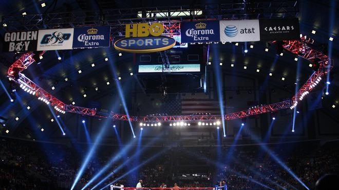 A General View Of Bernard Hopkins (black Trunks) Fighting In The Ring Against Chad Dawson (grey Trunks) Getty Images