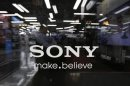 Logo of Sony Corp. is seen at an electronics store in Tokyo