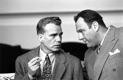 Billy Bob Thornton and James Gandolfini in USA Films' The Man Who Wasn't There