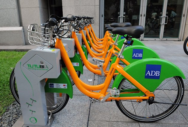 The Asian Development Bank and the Japanese government launch a bicycle-sharing scheme which will be tested in three cities Asia-Pacific cities including Davao. (Photo from ADB website)