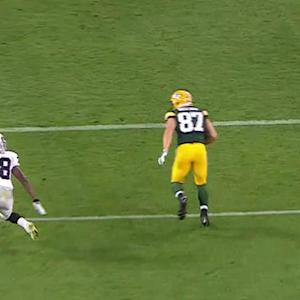Green Bay Packers wide receiver Jordy Nelson 12-yard TD reception