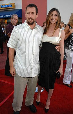 Adam Sandler and Jackie Sandler at the premiere of Universal Pictures' I Now Pronounce You Chuck & Larry