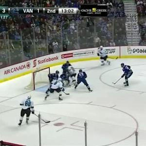 Eddie Lack Save on Logan Couture (07:00/2nd)