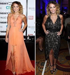 Miley Cyrus' Plunging Dresses: Which is Hotter?