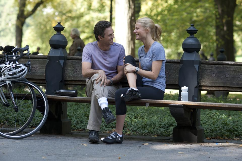 "This publicity image released by Roadside Attractions shows Mark Ruffalo, left, and Gwyneth Paltrow in a scene from ""Thanks For Sharing."" (AP Photo/Roadside Attractions, Anne Joyce)"