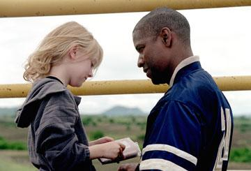 Denzel Washington and Dakota Fanning in 20th Century Fox's Man on Fire