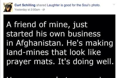 Curt Schilling really likes posting on Facebook about Muslims being bad