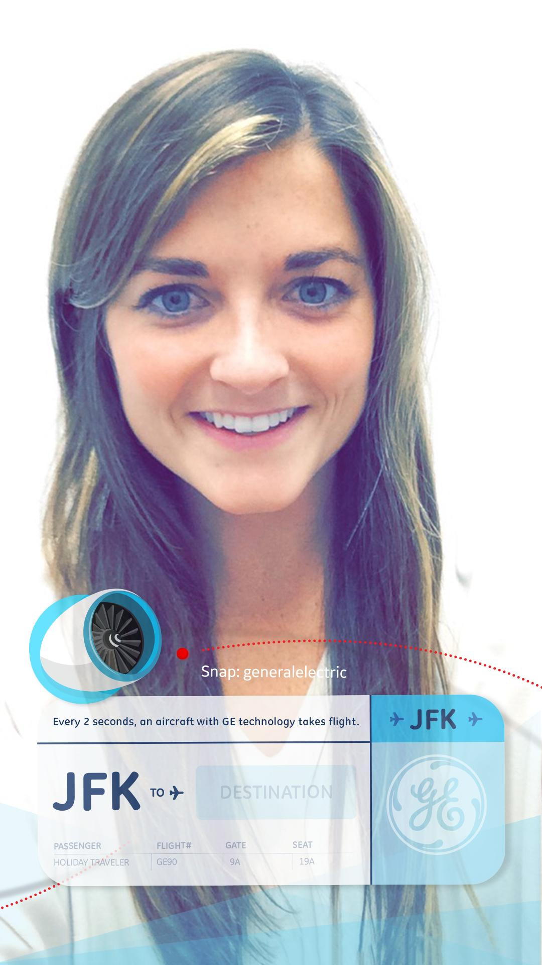 If you're traveling home for the holidays, GE wants you to use this Snapchat filter
