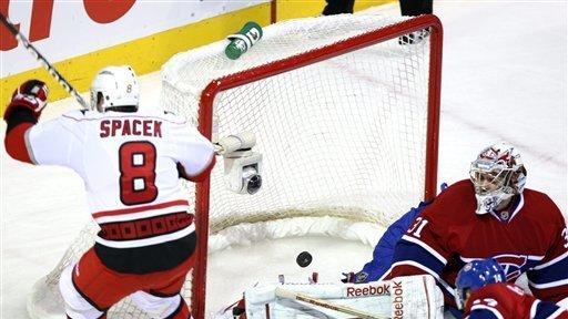 Spacek, Hurricanes beat Canadiens 5-3