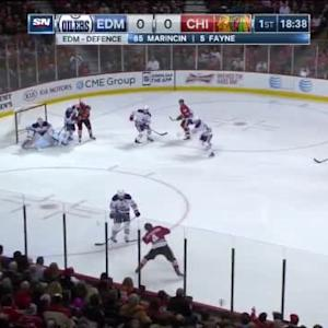 Ben Scrivens Save on Niklas Hjalmarsson (01:24/1st)