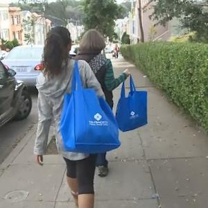 SF Neighborhood Volunteers Deliver Groceries To Shut-in Seniors