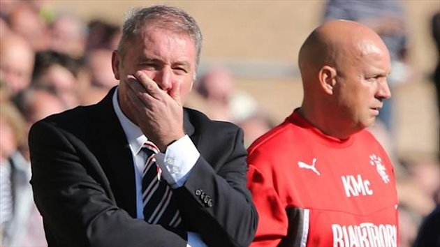 Ally McCoist, left, knows Rangers can play a lot better