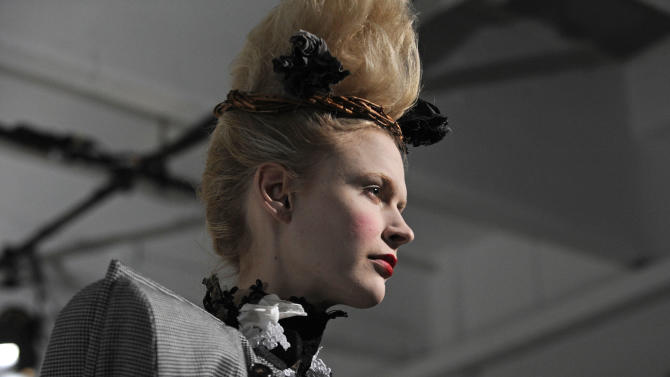 The Thom Browne Fall 2013 collection is modeled during Fashion Week, Monday, Feb. 11, 2013, in New York. (AP Photo/Louis Lanzano)