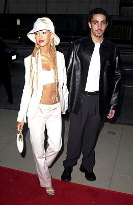 Christina Aguilera and dancer George Santos at the Beverly Hills premiere of 20th Century Fox's Moulin Rouge