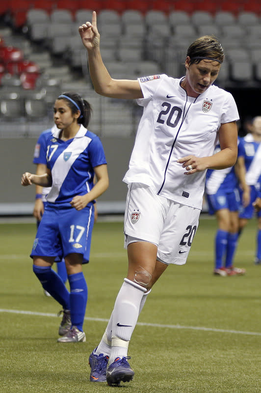 Abby Wambach #20 Of The United States Celebrates Getty Images