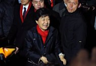 South Korea's presidential candidate Park Geun-Hye of the ruling New Frontier Party meets with supporters in Seoul on December, 19, 2012. South Korea has elected its first female president, handing a slim but historic victory to Park, daughter of the country's former military ruler
