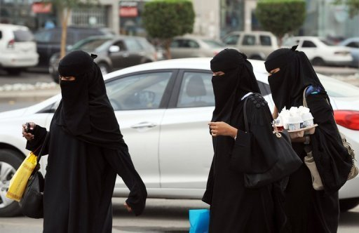 Saudi women shopping in Riyadh on November 19, 2012. A Saudi court on Monday referred a rights activist to a higher court for alleged apostasy, a charge that could lead to the death penalty in the ultra-conservative kingdom, activists see
