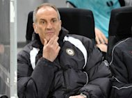 Udinese&#39;s coach Francesco Guidolin, pictured in March 2012. Udinese took charge of the race for a Champions League finish as they beat Genoa 2-0 on Sunday and closest rivals Napoli fell by the same scoreline at Bologna