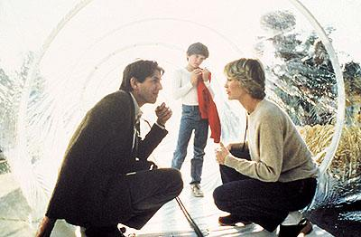 Keys ( Peter Coyote ), Elliott ( Henry Thomas ) and Mary ( Dee Wallace Stone ) in Universal's E.T. The Extra-Terrestrial
