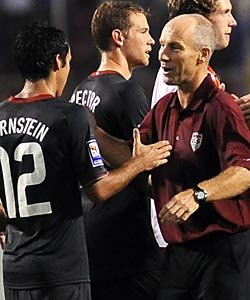 Jonathan Bornstein (left) and Bob Bradley